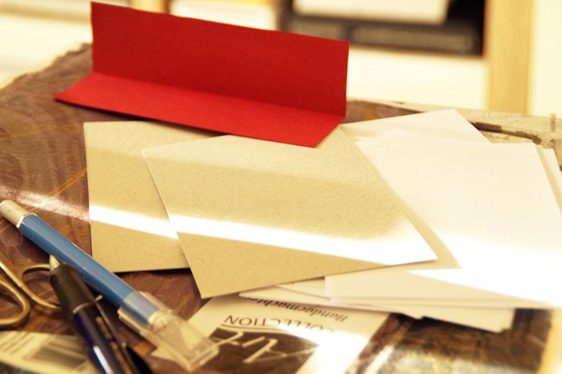 Buch binden Materialien und Maße