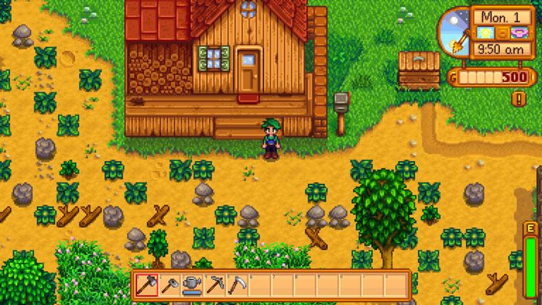 Anfang Farm vom Spiel Stardew Valley