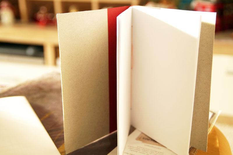Notizbuch binden DIY Weihnachtsgeschenk