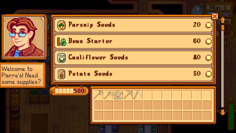 Shop bei Stardew Valley