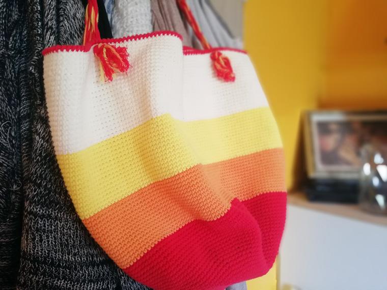 Große Tasche bzw Shopper mit Lana Grossa Wolle