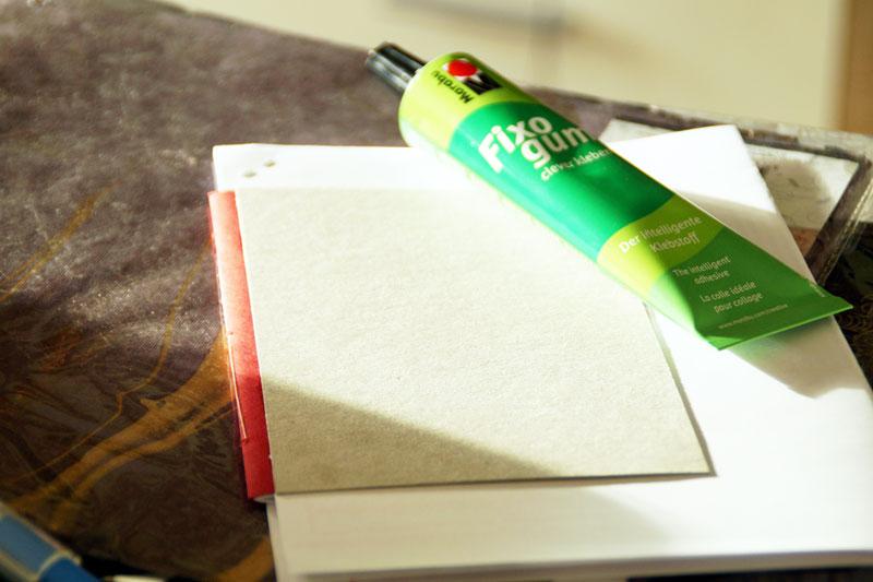 Wie Buch binden selbst machen DIY
