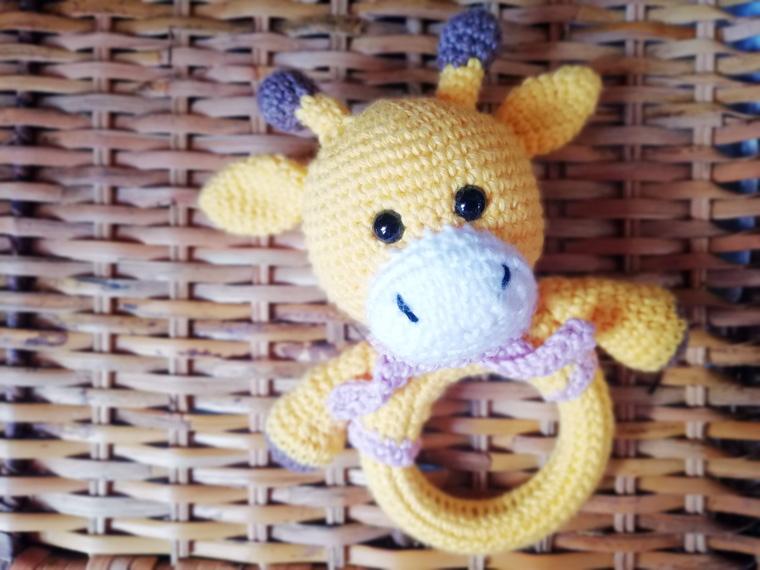 crochet pattern, english or german, giraffe Gerry | 570x760