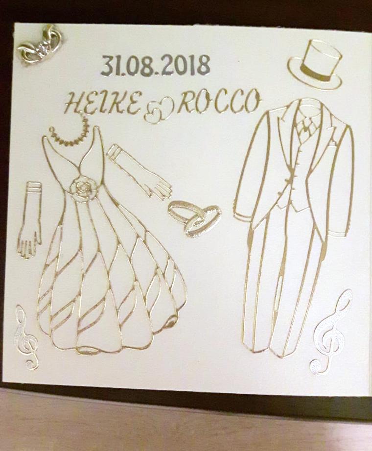 Hochzeitskarte elegant basteln