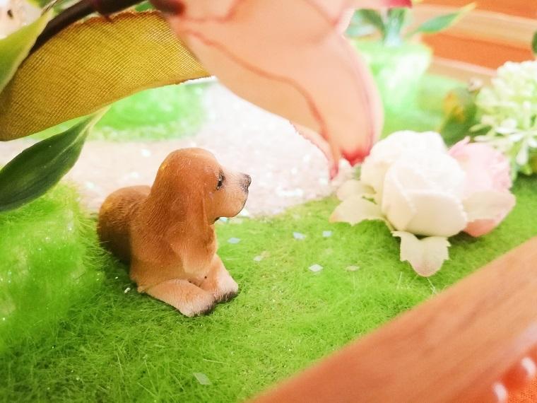 Hochzeitsgeschenk selbst basteln mit Hund