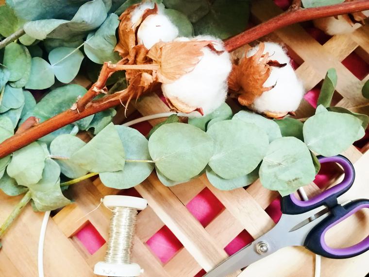 Materialien für Dekokranz Eukalyptus