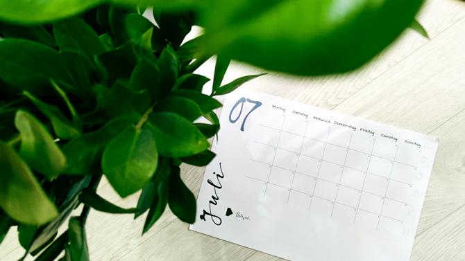 Kostenloser Kalender 2021 zum Herunterladen und Ausdrucken Freebie