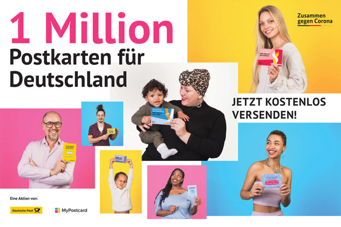 Aktion 1 Million Postkarten für Deutschland Corona-Aktion