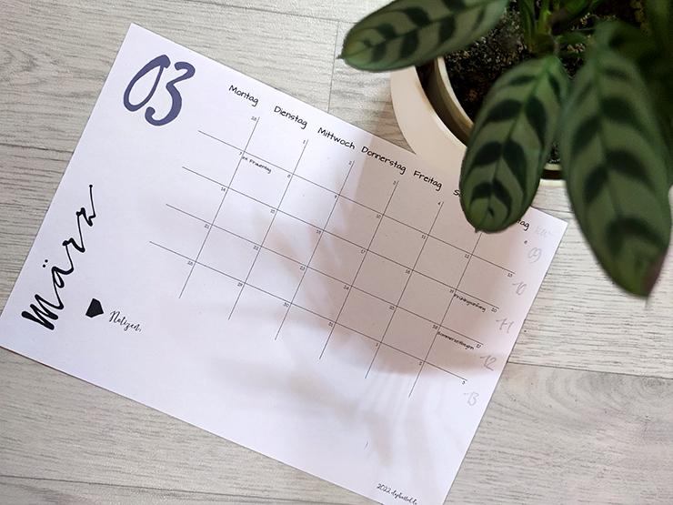 Kalender 2022 zum Ausdrucken | kostenloses Geschenk